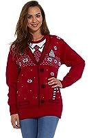 LEKEEZ ® Christmas Xmas Jumper Sweater Mens Ladies Unisex Novelty Classic - NAUGHTY SANTA RUDOLPH BLUE