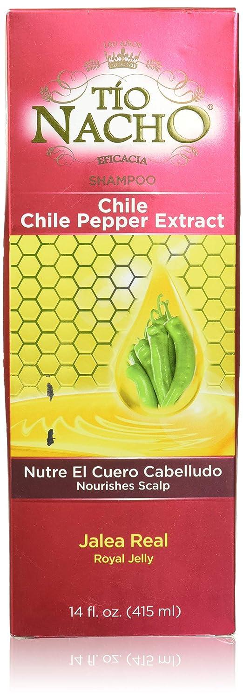 Tio Nacho Chile Shampoo 14 oz with Royal Jelly Ginseng Aloe Vera Wheat Jojoba