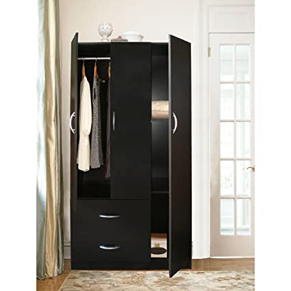 Amazon Home Source Industries Rln3224h Modern 3 Door Wardrobe