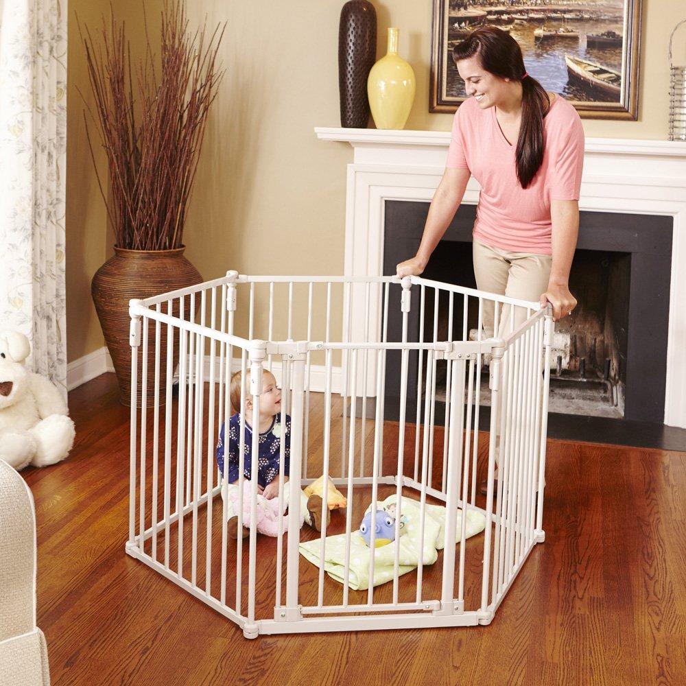amazoncom north states superyard 3in1 metal gate indoor safety gates baby