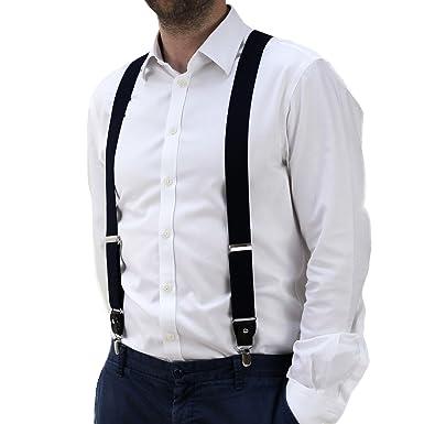 Tirantes para hombre, resistentes, con correas ajustables con clips, un solo tamaño