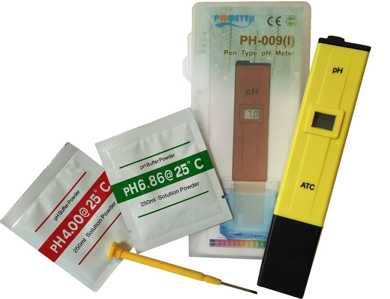 Pocket pH Tester & Meter Kit With High Accuracy Digital Readout Kit Includes Everything You Need
