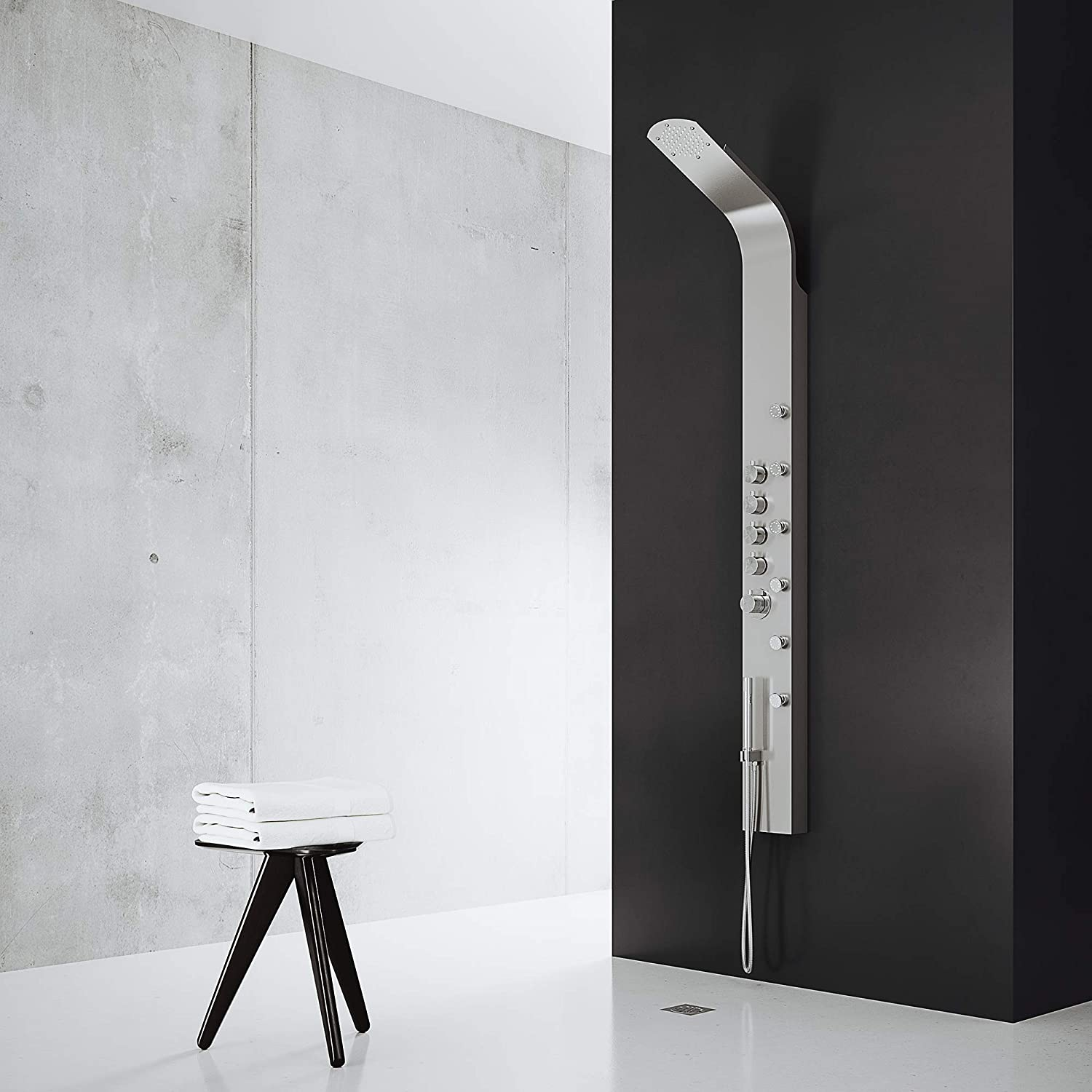 VIGO Brielle Rain Waterfall Shower Panel With Jets And Hand Shower - Shower Wall Surrounds - Amazon.com