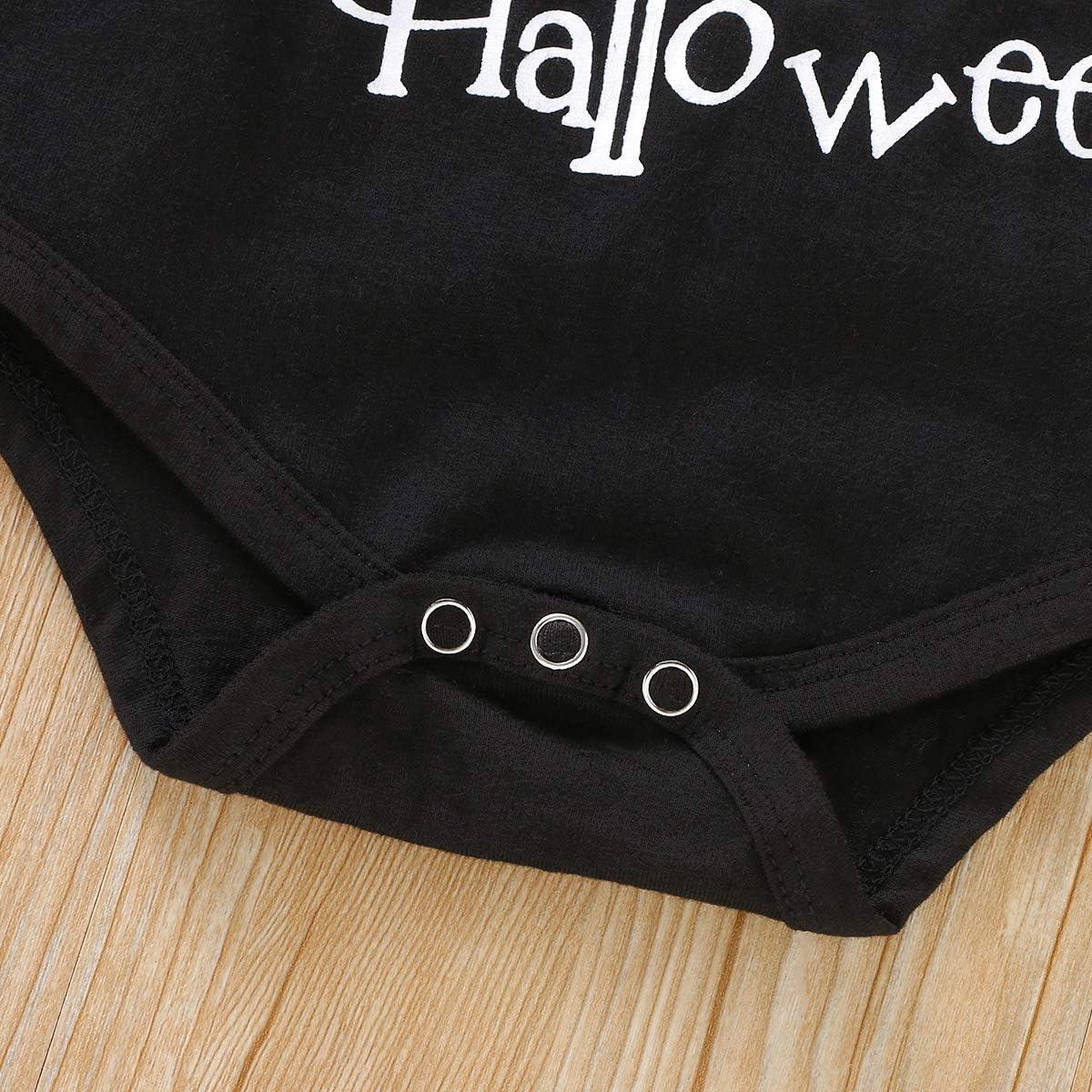 My 1st Halloween Ensemble 2 pi/èces pour Nouveau-n/é Fille gar/çon Grenouill/ère /à Manches Longues Citrouille Ghost Pantalon dhiver