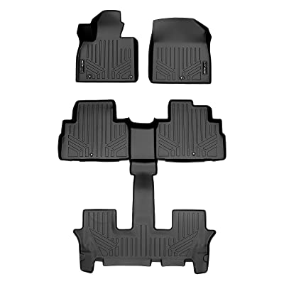 SMARTLINER SA0417/B0447 for 2020 Kia Telluride Only Fits with 2nd Row Bucket Seats Without Center Console, Black: Automotive