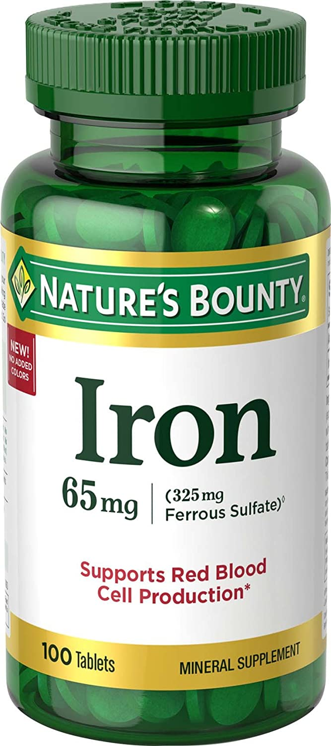 Natures Bounty Iron 65 mg (325 mg Ferrous Sulfate)