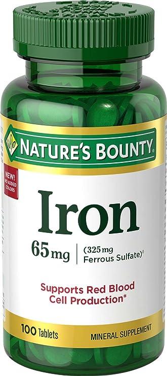 Nature's Bounty Iron 65 Mg., Healthy gift idea
