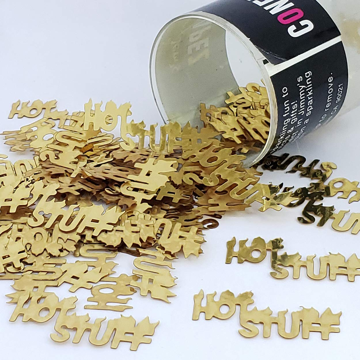 Confetti Word HOT Stuff Gold - One Pound (16 oz) Free Priority Mail (7716)