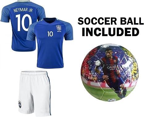 Neymar Jersey #10 Brasil - Camiseta de fútbol para niños (talla 5 ...