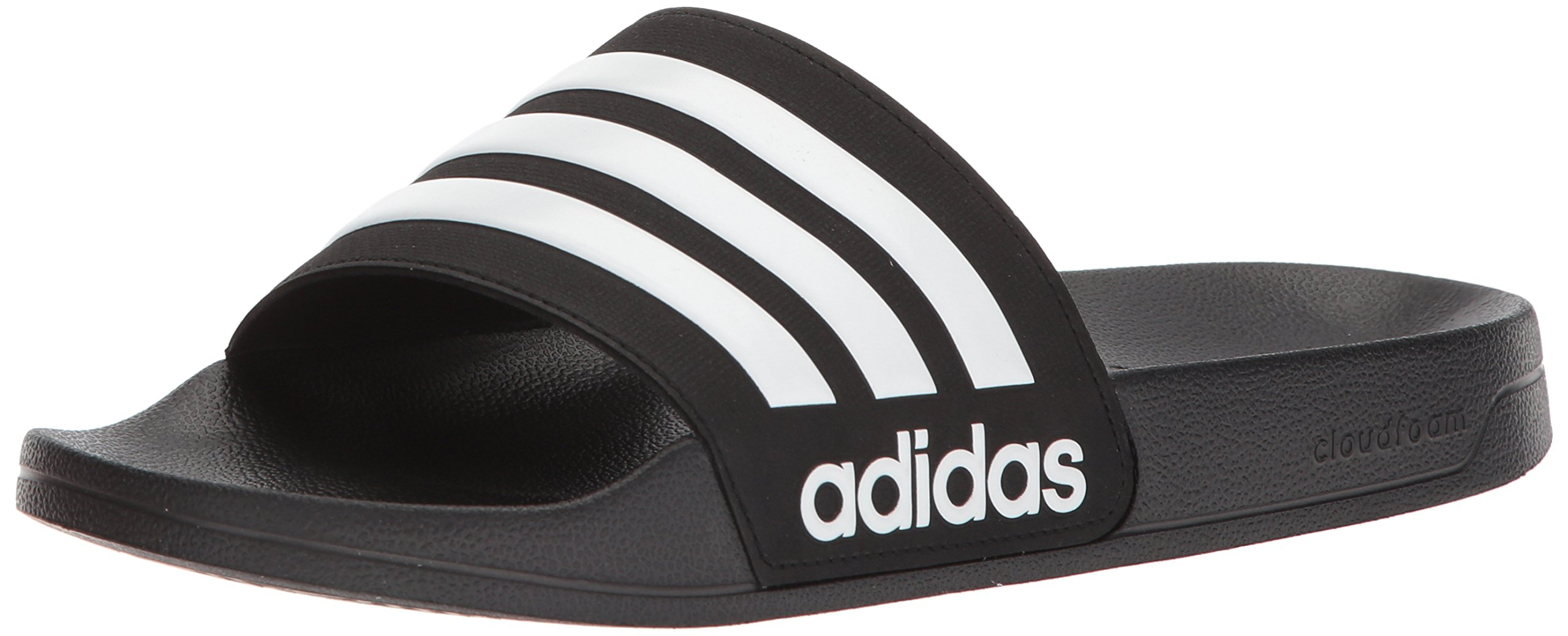 adidas Men's Adilette Shower Slide Sandal, Black/White/Black, 11 M US by adidas