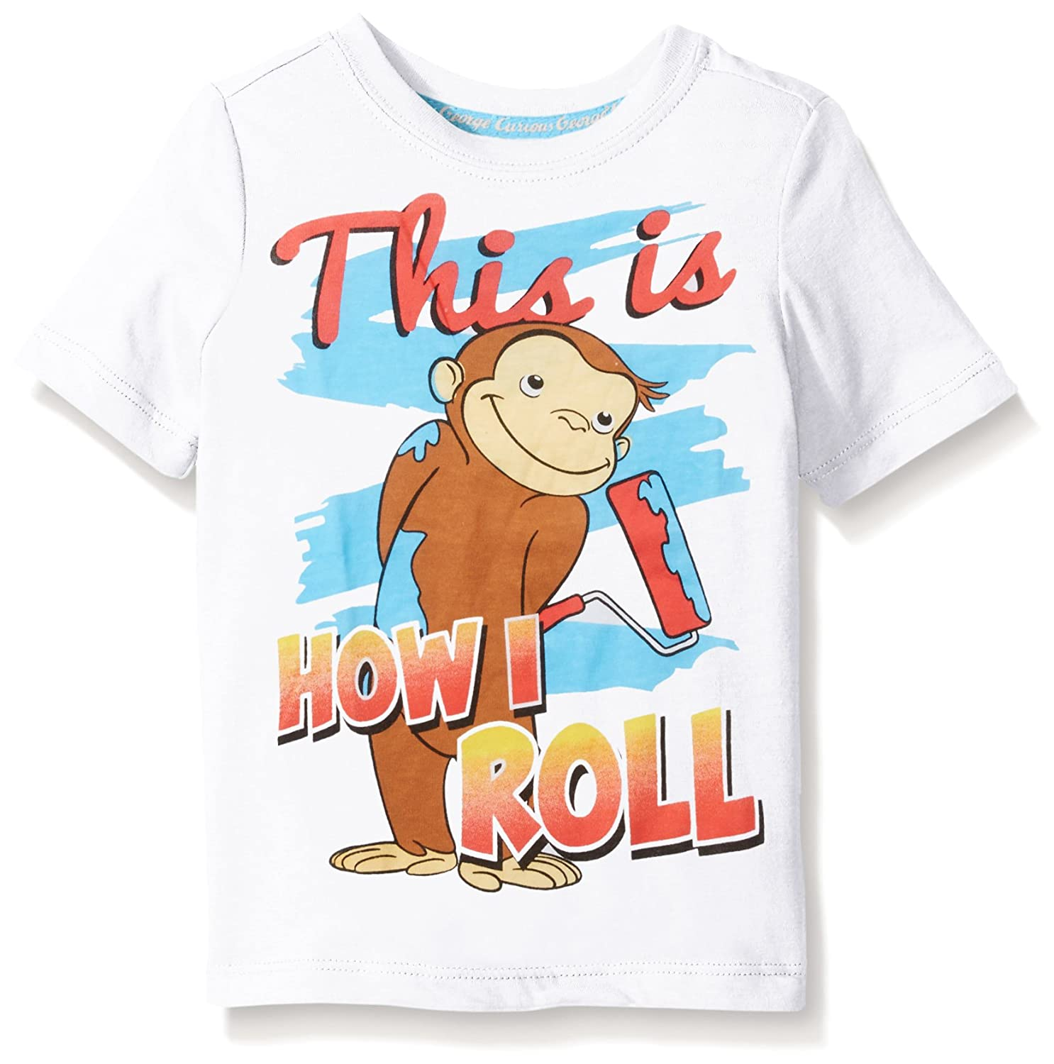 Curious George boys Toddler Boys Short Sleeve Graphic Tee White 2T CGST035
