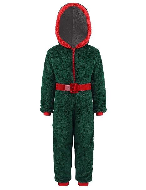 iiniim Disfraz de Papa Noel Duende para Niño Niña Disfraces de ...