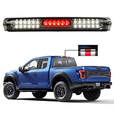 for 1997-2004 Ford F150 LED Bar 3rd Third Tail Brake Light Rear Cargo Lamp High Mount Stop light (Chrome Housing Smoke Lens): Automotive