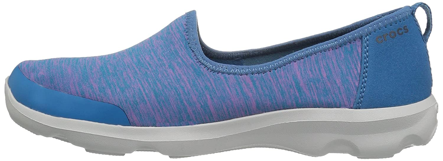 Crocs Women's Busy Day Knit Skimmer Flat B01HQB980I 9 B(M) US|Navy