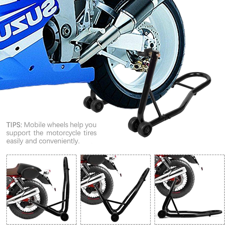 Tammible Support pour roue de moto avec bras oscillant