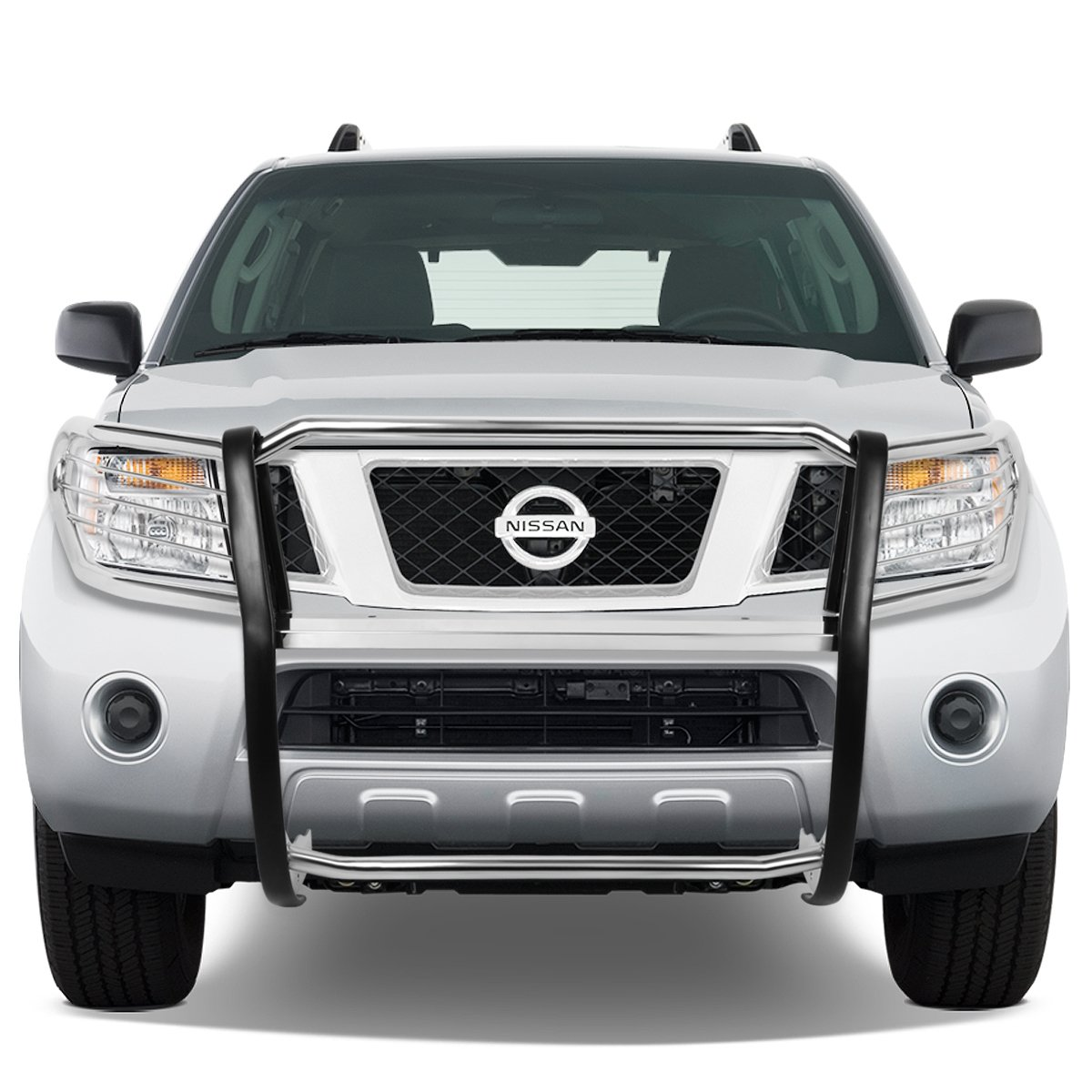 For Nissan Pathfinder R51 Front Bumper Protector Brush Grille Guard Chrome