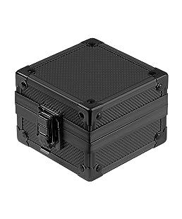 Infantry Black Aluminium Watch Case Display Cushion Storage Gift Box (Black)