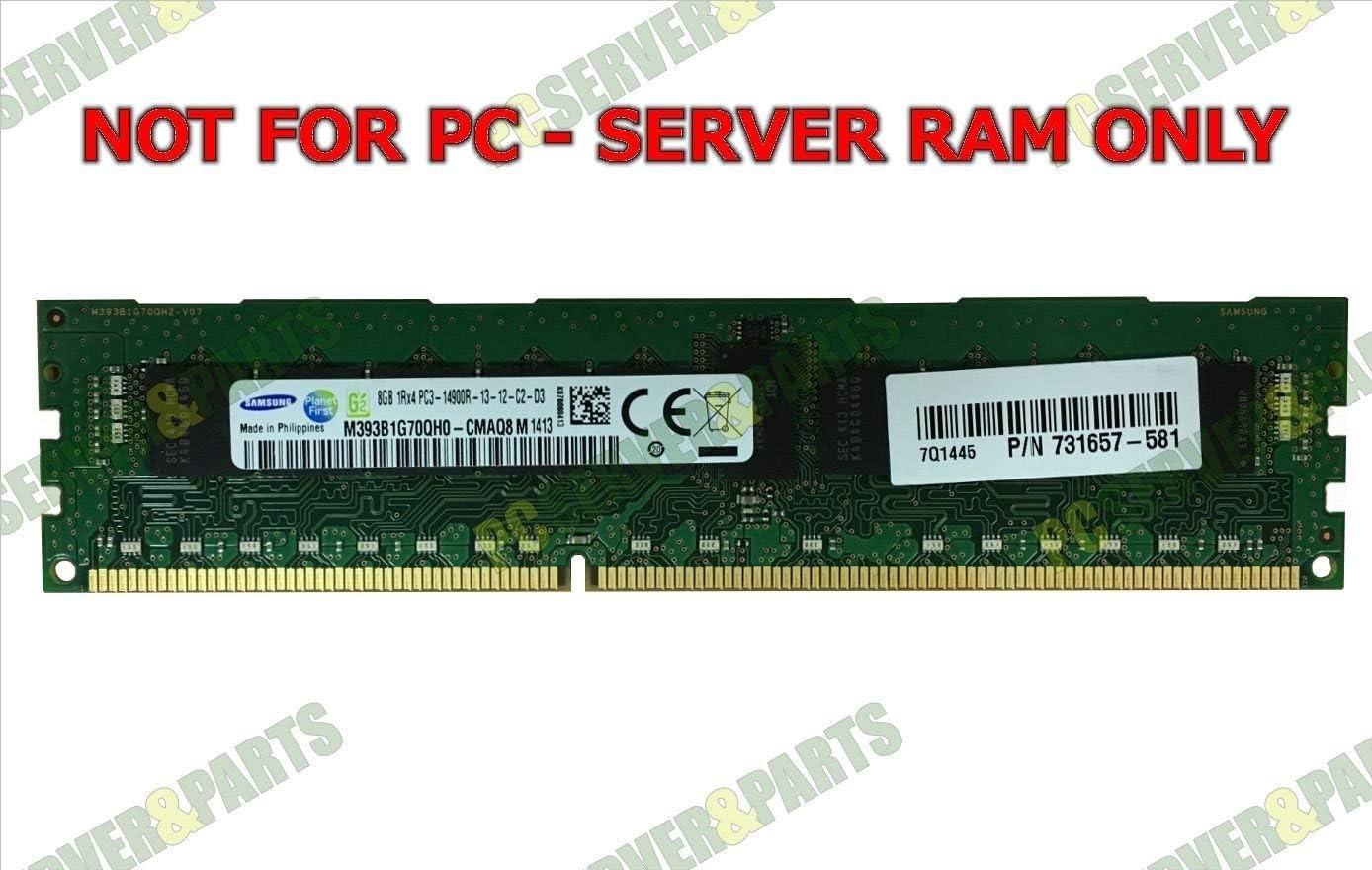 HP 731657-581 8GB DDR-3 PC3-14900 ECC REG Memory - E2Q94AA