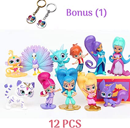 Amazon.com: Shimmer and Shine - Juego de figuras decorativas ...