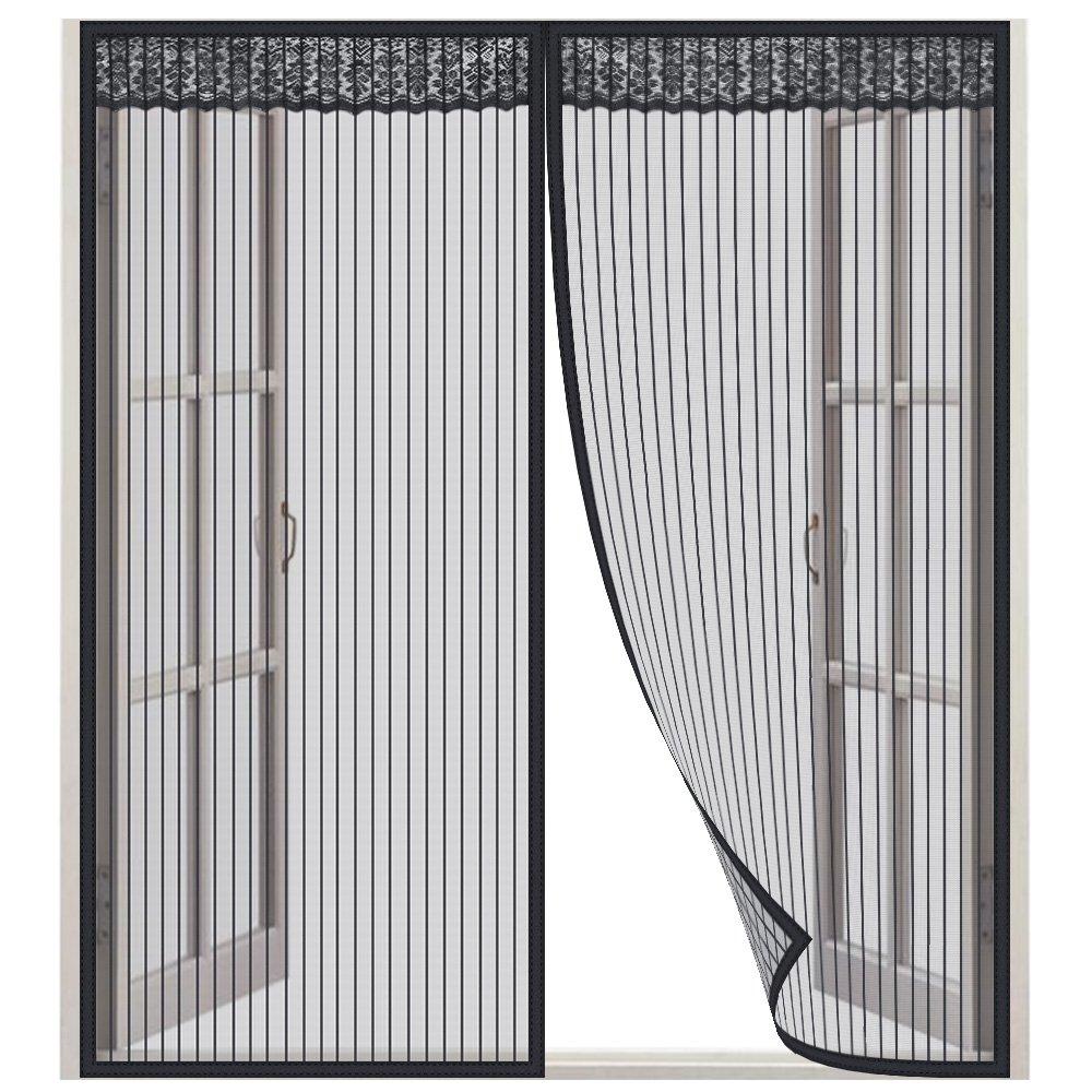 Moustiquaire Fenê tre, Lictin Rideau de moustiquaire 1.3 * 1.5m avec velcro et Punaise