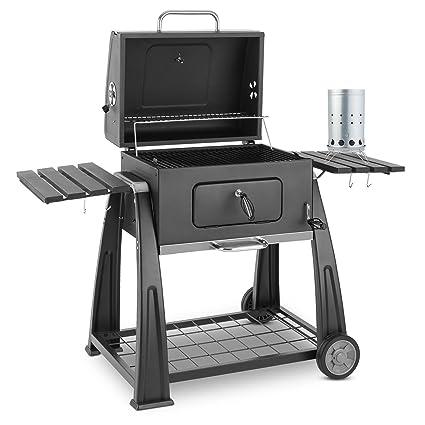 Klarstein Bigfoot Set Parrilla carbón BBQ ahumadero + Encendido ...