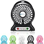 Dizaul rechargeable portable fan