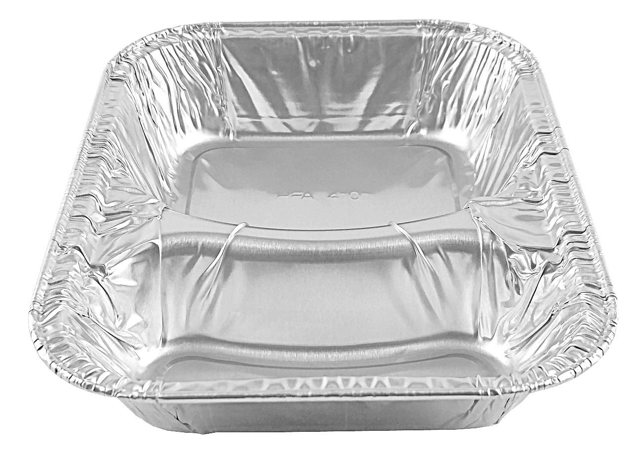 Handi-Foil Hamburger Container Tray Disposable School Feeding Pan - (pack of 100)