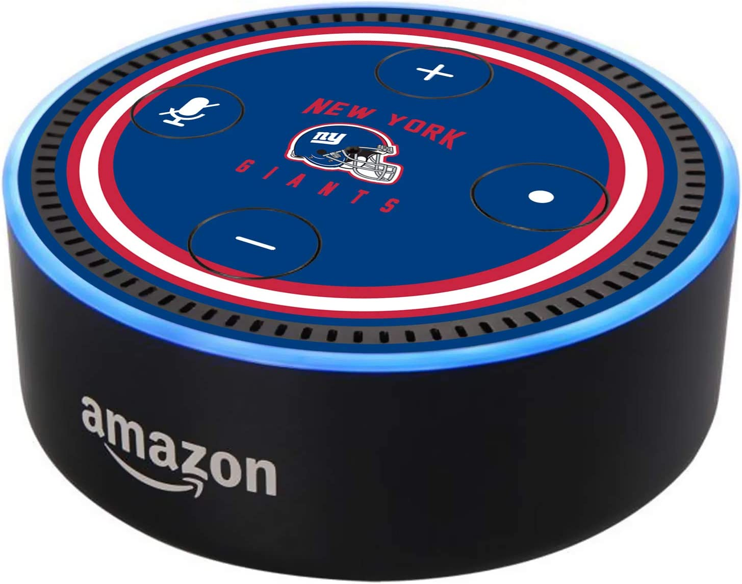 Head Case Designs Officially Licensed NFL Team Colour Helmet New York Giants Matte Vinyl Sticker Skin Decal Cover Compatible with Amazon Echo Dot (2nd Gen)