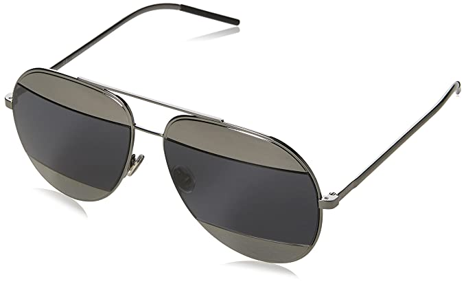 7e77d55bc6 Image Unavailable. Image not available for. Color  Dior Womens Split 59Mm  Metal Aviator Sunglasses