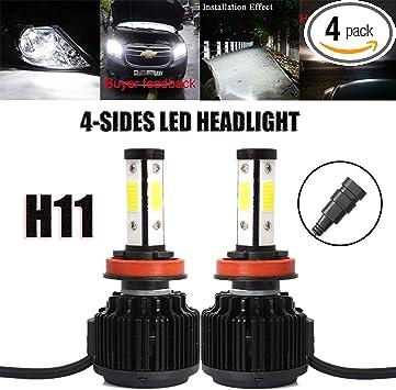 4Sides 2X LED Headlight Bulbs Conversion Kit 9005 Hi//low Beam Bright White 6000K