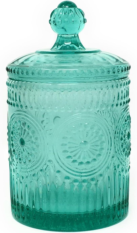The Pioneer Woman Adeline Teal Mini Storage Jar 3.5 x 6.25