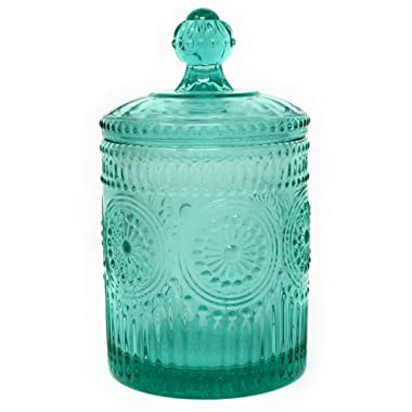 The Pioneer Woman Adeline Teal Mini Storage Jar 3.5 x 6.25