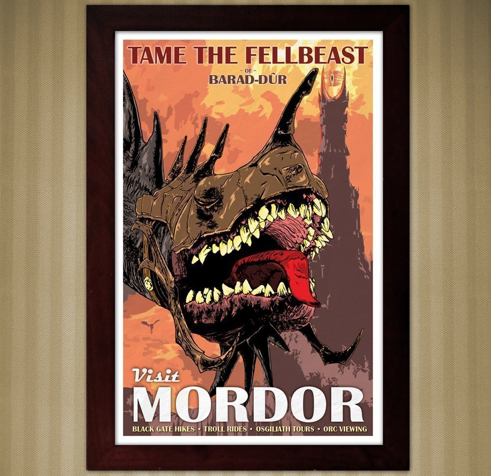 LOTR - Tame The Fellbeast - Vintage Travel Poster - 11x17