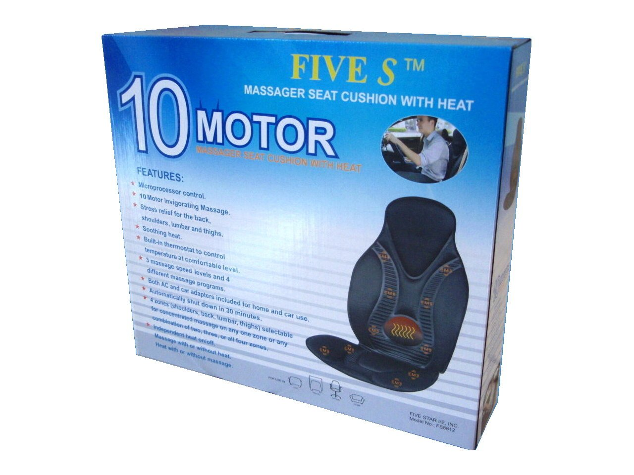 Amazoncom New Five Star FS8812 10 Motor Vibration Massage Seat
