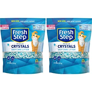 Fresh Step Crystals, Premium Cat Litter, Scented,8 Pounds (Pack of 2)