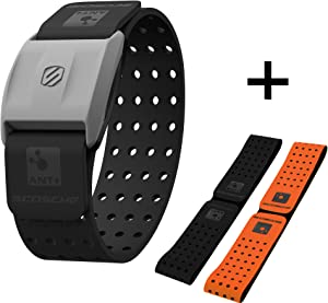 Scosche Rhythm+ Heart Rate Monitor Armband - Optical Heart Rate Armband Monitor with Dual Band Radio ANT+ and Bluetooth Smart - Bonus Pack Includes Additional Free Armband