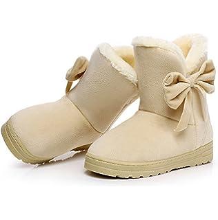 2bafe118b0b84 Amazon.com | Dahanyi Stylish NEW Women Boots Flock Ankle Boots Round ...