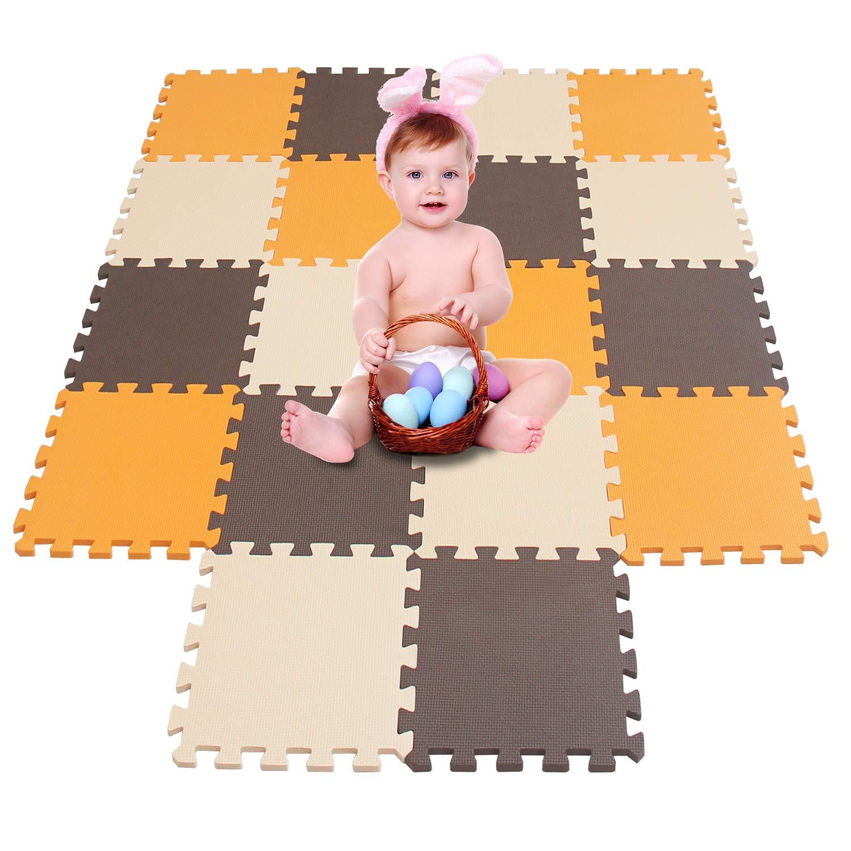 meiqicool Tappeto Puzzle Tappetini Puzzle per Bambini Giochi Giocattoli Puzzle|Tappeti da Gioco 18 Pezzi Tappetini
