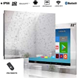 Haocrown 22 inch Smart Bathroom LED Mirror TV with IP66 Waterproof Full-HD Android 9.0 Television
