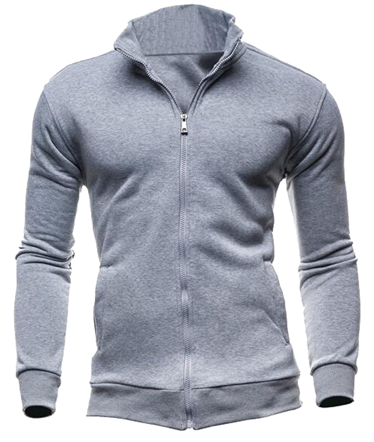 Yayu Mens Hoodies Thick Loose Fit Faux Fur Lined Printing Athletic Pullover Sweatshirts