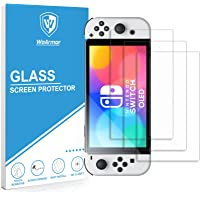 WeArmor Tempered Glass Screen Protector Compatible with Nintendo Switch OLED model 2021 (3-Pack)
