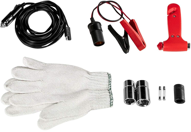 VEVOR Presa Elettrica 12V DC 5T Car Jack Elettrico Kit di Riparazione Auto Elettrica per Auto Jack Elettrico Presa Idraulica Elettrica da Pavimento con Chiave ad Impatto Elettrica