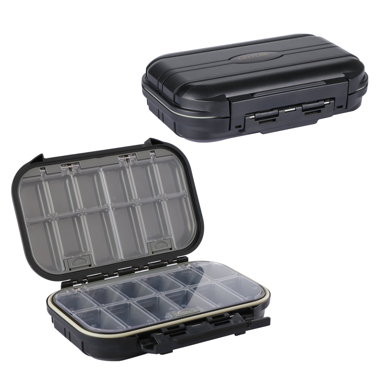 Goture Fishing-Lure-Boxes-Bait Tackle-Plastic-Storage, Small-Lure-Case, Mini-Lure-Box for Vest, Fishing-Accessories Large Boxes Storage Containers