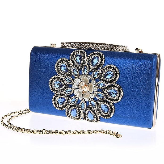 KAXIDY Bolsos de Fiesta Bolsos Ceremonia Clutches Para Carteras de Mano Bolsos Vestir Fiesta Bolso Noche (Azul): Amazon.es: Zapatos y complementos