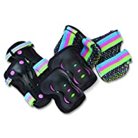 SFR Disco Triple Pad Set - Wrist, Elbow and Knee - Size Children's Medium