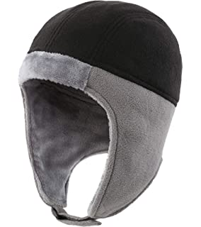 Connectyle Mens Fleece Thermal Skull Cap Beanie with Ear Flaps Winter Hats 37edf2173900