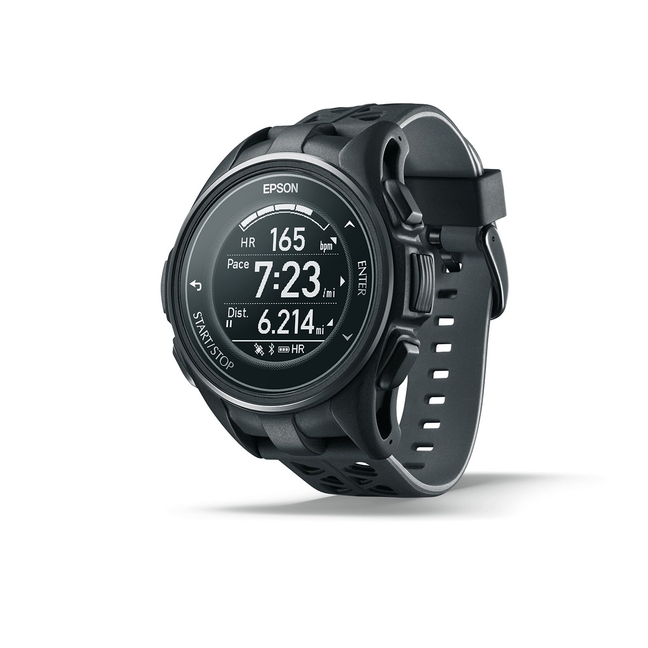 Epson ProSense 307 GPS Multisport Watch with Heart Rate and EasyView Display - Black