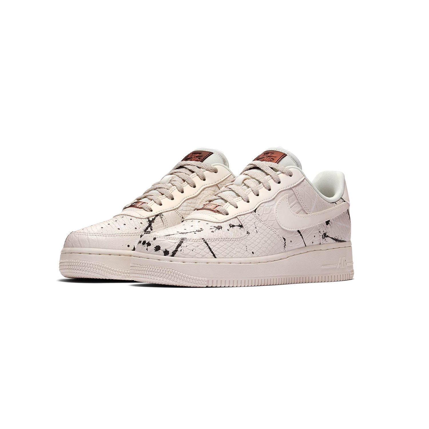 Attractive Nike Air Force 1 Low LX Phantom Snakeskin Black Summit White 898889 007 Womens Mens Casual Shoes Sneakers