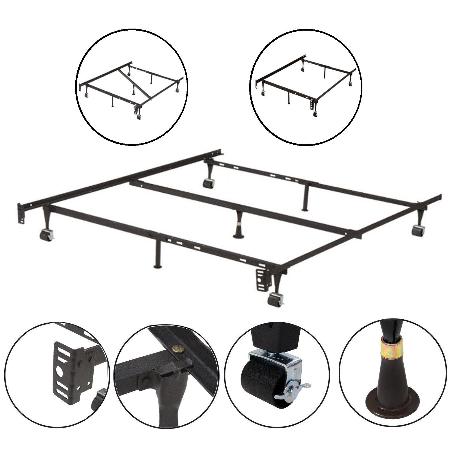 kings brand furniture adjustable metal bed frame bedding parts accessories new ebay. Black Bedroom Furniture Sets. Home Design Ideas