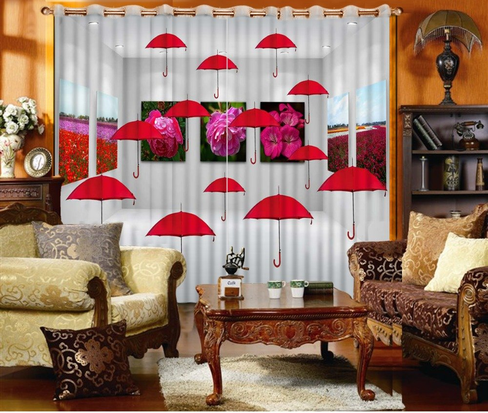 Sproud Noenname_Nul 3D Printing Curtain Lifelike Blackout Cortians Beautiful Full Light Shading Bedroom Living Room Curtains 240Dropx380Wide(Cm) 2 pieces